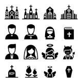 Значок церков Стоковое Фото