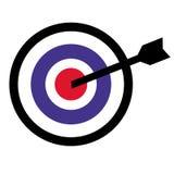 Значок цели с стрелкой в середине Стоковое фото RF