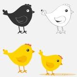 Значок цыпленка иллюстрация вектора