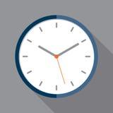 Значок часов в плоском стиле Стоковое Фото
