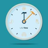 Значок часов здоровья Стоковое Изображение