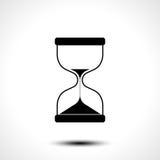 Значок часов песка изолированный на белой предпосылке бесплатная иллюстрация