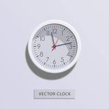 Значок часов плоский дополнительная форма дела предпосылки Иллюстрация вектора с тенью Стоковая Фотография RF
