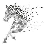 Значок частиц лошади иллюстрация штока