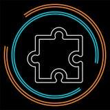 Значок части головоломки, символ головоломки вектора иллюстрация штока