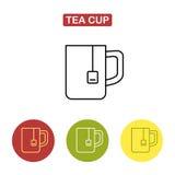 Значок чашки Изображение времени чая Стоковое фото RF