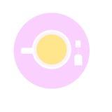 Значок чашки чая Стоковые Фотографии RF