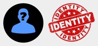 Значок человека вектора неизвестный и поцарапанный водяной знак идентичности бесплатная иллюстрация