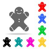 Значок человека пряника Элементы в multi покрашенных значках для передвижных apps концепции и сети Значки для дизайна вебсайта и  Стоковые Изображения RF