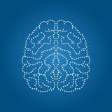 Значок человеческого мозга современный Орган нервной системы иллюстрация штока