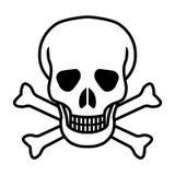 Значок черепа и косточек графический бесплатная иллюстрация
