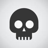Значок черепов на серой предпосылке Стоковое Фото