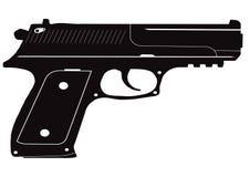 Значок черного пистолета Стоковые Фотографии RF