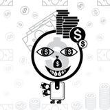 Значок человека денег стилизованный Стоковые Изображения