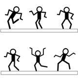 Значок человека танцев Стоковое фото RF