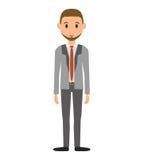 Значок человека шаржа Дизайн бизнесмена по мере того как вектор свирли предпосылки декоративный графический стилизованный развева иллюстрация вектора