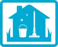 Значок чистки домашний Стоковые Изображения RF