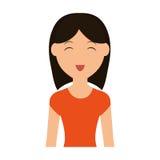 Значок шаржа женщины Дизайн персоны по мере того как вектор свирли предпосылки декоративный графический стилизованный развевает бесплатная иллюстрация