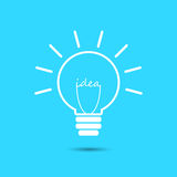 Значок шарика идеи изолированный на голубой предпосылке Стоковое Изображение RF
