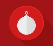 Значок шарика рождества бесплатная иллюстрация