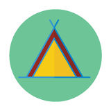 Значок шатра плоский Стоковые Фото