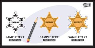 Значок шерифа Стоковые Изображения RF