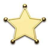 Значок шерифа Стоковое фото RF