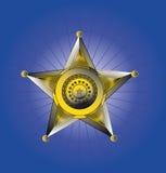 Значок шерифов иллюстрация штока