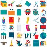 Значок 1 школы Стоковое Изображение