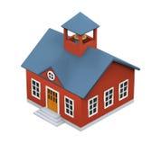 Значок школьного здания иллюстрация вектора