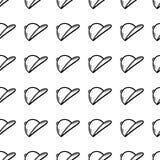 Значок шляпы картины вычерченного doodle руки безшовный черный эскиз символ знака Элемент украшения белизна изолированная предпос иллюстрация вектора