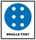 Значок Шрифта Брайля, простой стиль Стоковое Изображение RF