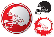 Значок шлема американского футбола Стоковые Изображения