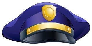 Значок шляпы полицейския Стоковое Изображение