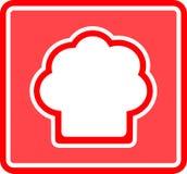 Значок шляпы шеф-повара Стоковая Фотография