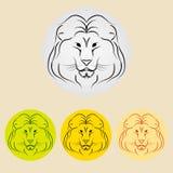 Значок льва Стоковое фото RF