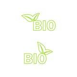 Значок экологичности био вектор Стоковое Изображение RF