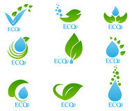 Значок экологичности установил 04 Стоковое Изображение RF
