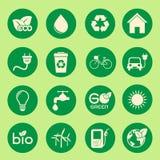 Значок экологичности Стоковые Фото
