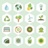 Значок экологичности Стоковое фото RF