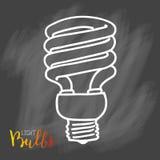 Значок электрических лампочек Концепция большой воодушевленности идей, нововведение, Стоковая Фотография