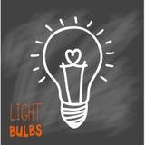Значок электрических лампочек Концепция большой воодушевленности идей, нововведение, Стоковое Фото