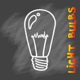 Значок электрических лампочек Концепция большой воодушевленности идей, нововведение, Стоковые Фотографии RF
