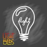 Значок электрических лампочек Концепция большой воодушевленности идей, нововведение, Стоковая Фотография RF