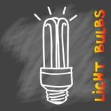 Значок электрических лампочек Концепция большой воодушевленности идей, нововведение, Стоковые Изображения