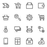Значок электронной коммерции плоский бесплатная иллюстрация