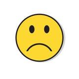 Значок эмоции людей желтой унылой стороны отрицательный иллюстрация штока