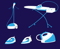 Значок электрического утюга пара Бесплатная Иллюстрация