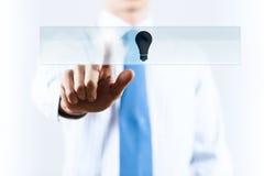 Значок электрической лампочки Стоковые Изображения RF