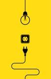 Значок электричества плоский Стоковое фото RF